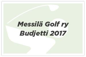 Messilä Golf ry – Budjetti
