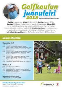 Golfkoulun junnuleiri 23.–24.7.2018