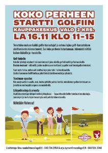 Nyt perhe ja ystävät mukaan 16.11. Valon golf–tapahtumaan!